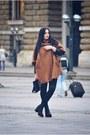 Black-h-m-shoes-bronze-brown-coat-h-m-coat-black-leather-zara-purse