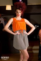 orange Atmosphere dress