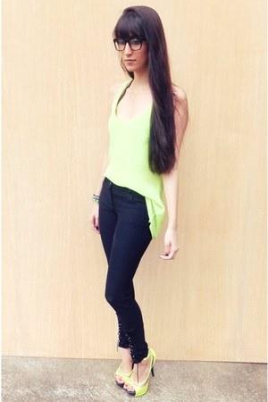 chartreuse Dorinda shirt