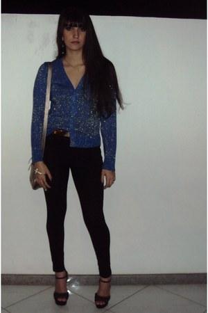 navy Focco cardigan - black Pacific Blue pants - black Bárbara Krás heels