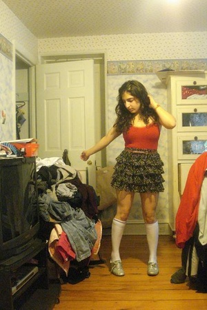 American Apparel top - forever 21 skirt - American Apparel socks - shoes