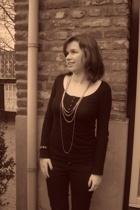 H&M shirt - vintage necklace - H&M necklace - Hallhuber pants