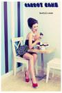 Black-second-hand-top-black-polka-dot-handmade-skirt-red-deezee-heels