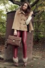 Dark-brown-romwe-bag-dark-brown-deezee-boots-brick-red-leather-cubus-pants