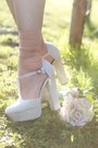 Ivory-chiffon-romwe-shirt-tan-tkmaxx-shorts-eggshell-deezee-heels