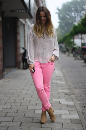 Zara jeans - Nelly boots - H&M Trend blouse