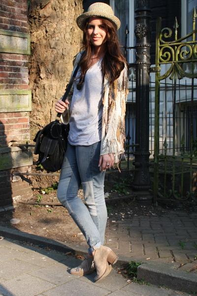 H&M jeans - Monki hat - vintage cardigan