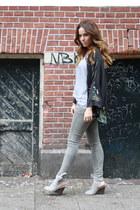 Zara shoes - Zara jeans - kimono Zara jacket - H&M t-shirt
