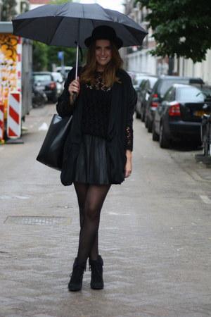 Zara skirt - black H&M Trend blazer - vintage jumper