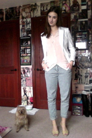 white ann taylor blazer - neutral H&M shirt