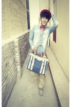 Roamers shoes - denim shirt - calvin klein bag - Vans pants