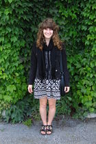 beige Urban Outfitters dress - black elle purse - black NAOT shoes - black Gap j