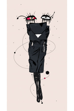 black Maison Martin Margiela RTW 10 coat