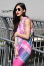 Hot-pink-bird-on-a-wire-dress