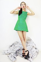 Stunning Vintage Green party Dress