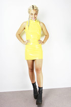 60's Vintage Yellow Mini Dress.