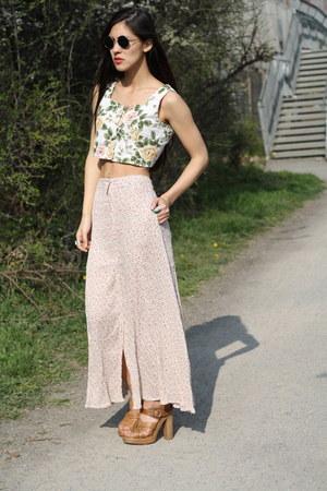 floral skirt Bird on a wire skirt