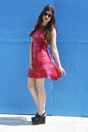 crimson tie dye Bird on a wire Vintage dress