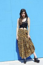 Tiger-print-bird-on-a-wire-skirt