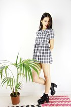 BOAW Modern Monochrome Checked Dress