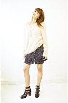 navy cotton 90s grunge vintage skirt skirt