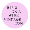 BirdOnaWireVintage
