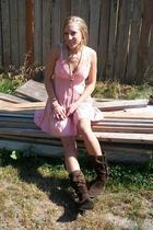 vintage dress - predictions boots