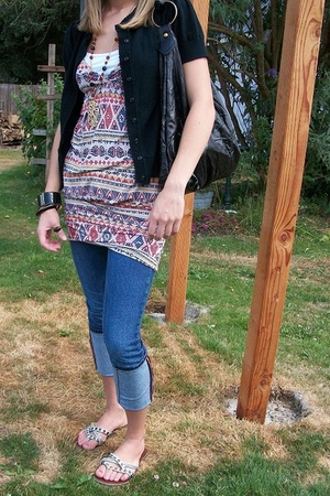 Forever21 dress - bp jacket - Chinese Laundry accessories - Miss Bisou jeans - W