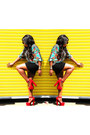 Ebay-shoes-green-h-m-skirt-thrift-store-blouse