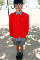 suede Boys&boots boots - denim H&M Trend shirt - cotton Miriam Grant shorts