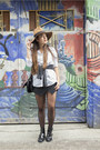Black-la-redoute-boots-bronze-la-redoute-hat-white-gant-shirt