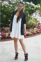 vintage jacket - Guiseppe Zanotti shoes - Lovers  Friends dress