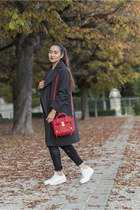 red 31 Phillip Lim bag - white Converse shoes - gray H&M coat