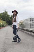 Mango shoes - H&M jeans - H&M hat - Craie bag - Mango top