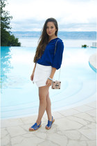 Zara top - H&M bag - Tropezienne sandals - white Zara skirt