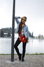 Black-platforms-mango-shoes-light-blue-denim-topshop-jacket