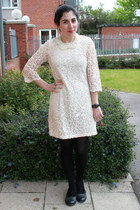 peach H&M dress - black Urban Outfitters shoes - ivory OASAP necklace