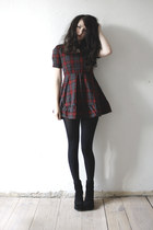 crimson plaid Oasapcom dress