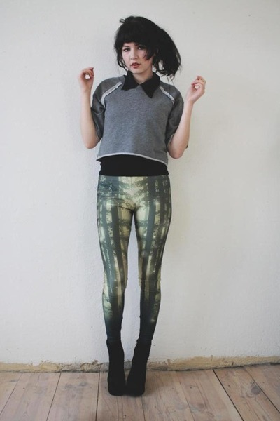 forest green lovely sally leggings - gray crop Cheap Monday sweater
