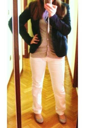 Zara shirt - Zara jacket - Zara jeans - pull&bear blazer - bimbaylola shoes
