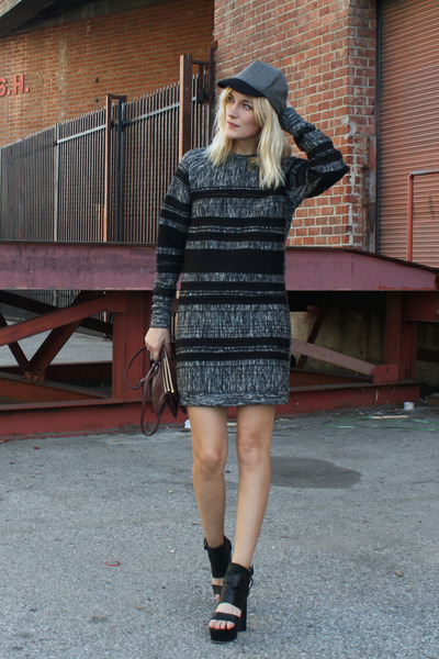 gray 31 Phillip Lim dress - black surface to air shoes - heather gray asos hat