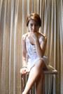White-cotton-promod-dress