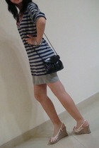 Springfield dress - Miss Selfridges purse - shoes