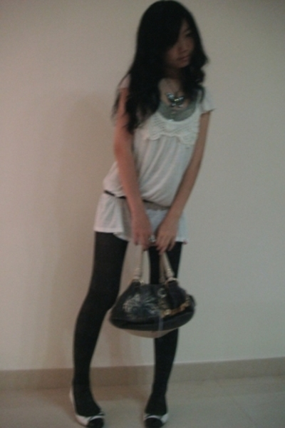 Topshop top - Esprit top - Juicy Couture purse - Forever21 leggings