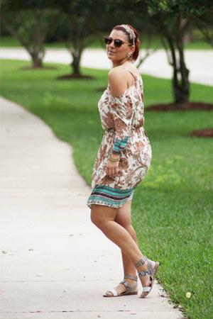 beige python sandals franco sarto sandals - tan Umgee USA dress