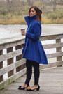 Blue-trench-coat-steve-madden-coat-black-poncho-sweater-metrostyle-sweater