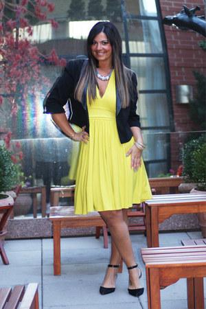 black Forever 21 blazer - yellow Victorias Secret dress