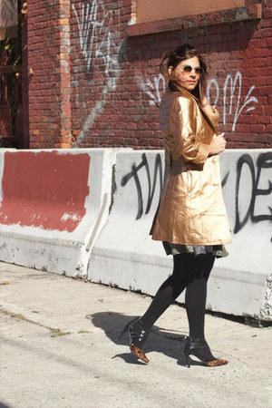 bronze METROSTYLE jacket - black heels