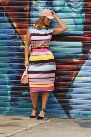 light pink pastel bag Knit NY bag - bubble gum striped dress new york & co dress