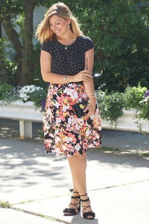 black Zara sandals - coral METROSTYLE dress
